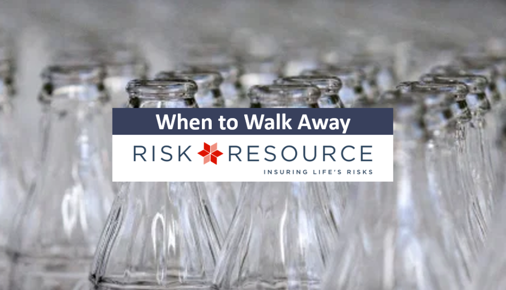 glass bottles, Risk Resource article title