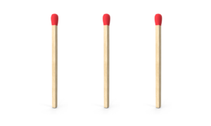 3 matchsticks
