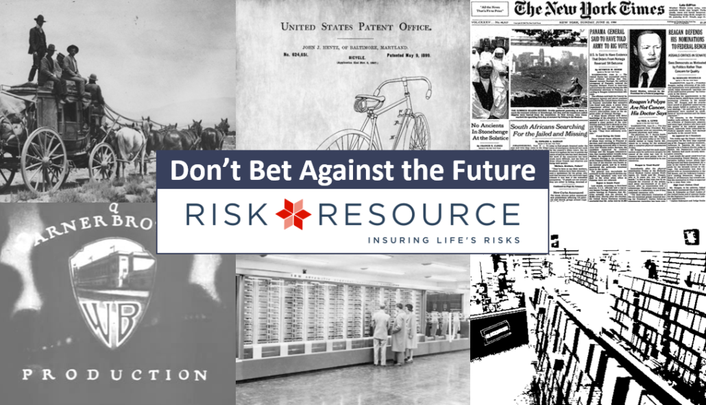 6 company logos, Risk Resource article title